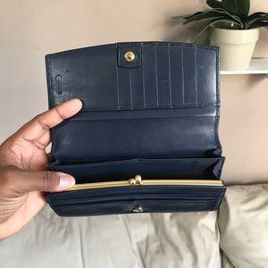Coach Bags - SOLDCoach Leather Wallet Blue Change Purse Vintage